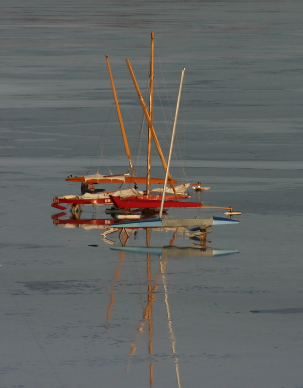 Ice Boat Reflections