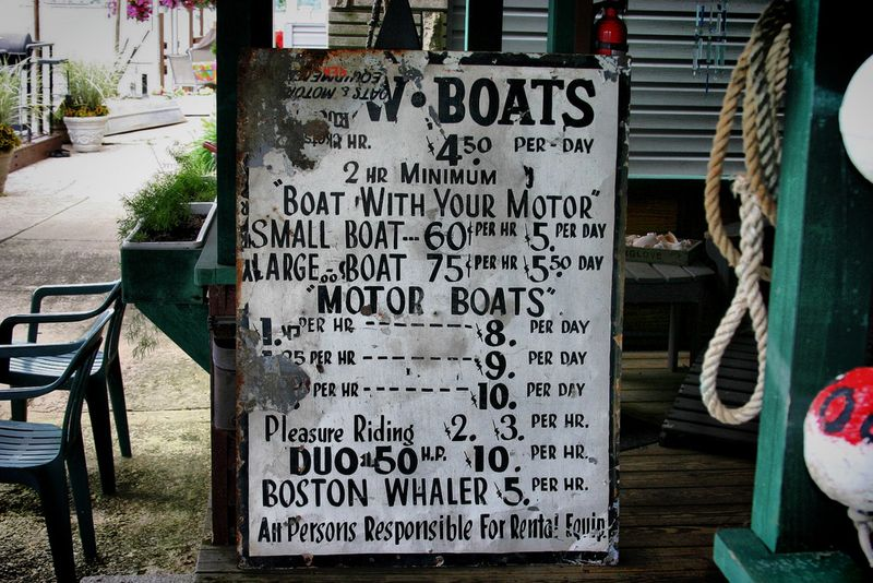 Old boat sign